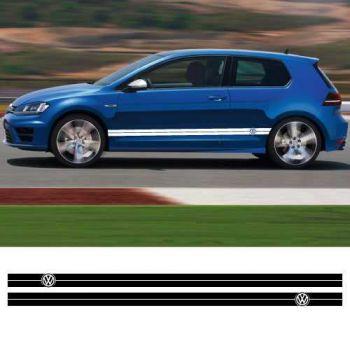Kit Stickers Bande Seitenleiste Viper VW (8 x 200cm)