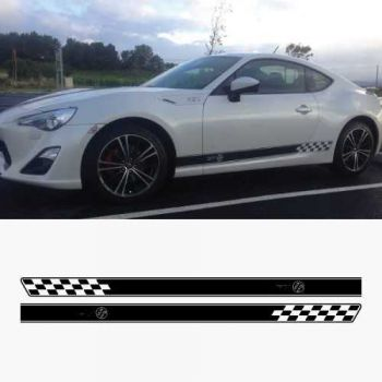 Toyota GT 86 car rocker stripes decals set