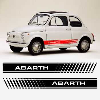 Fiat Abarth 500 1965 car rocker decals stripes