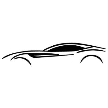 Sticker Ferrari California Silhouette