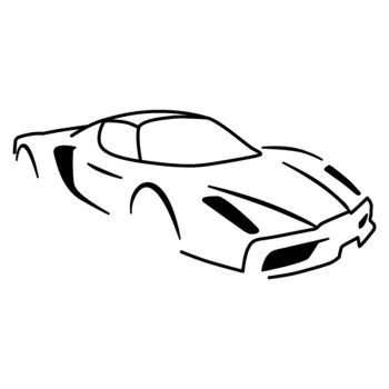 Sticker Ferrari Enzo Silhouette