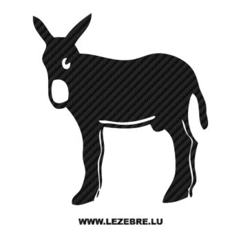 Sticker Karbon Esel Catalan Burro