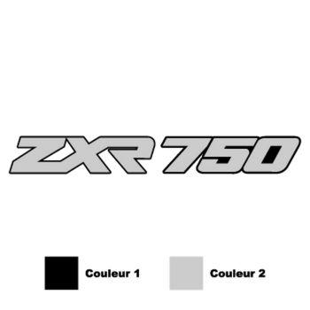 Kawasaki ZXR 750 Decal - 2 custom colors