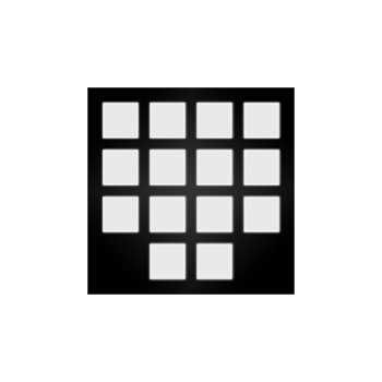 Reflective helmet squares stickers set