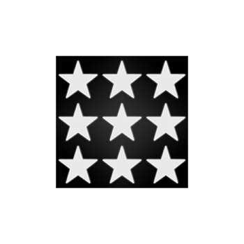 Reflective helmet stars stickers set