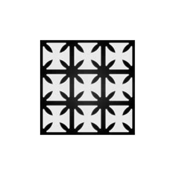 Kit stickers réfléchissants pour casque de moto Croix de malte