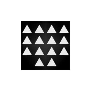 Reflective helmet triangle stickers set
