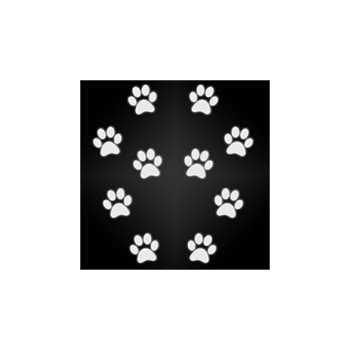 Sticker Empreintes de Chat Réfléchissant