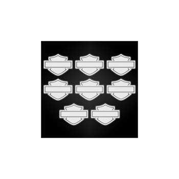 Harley Davidson logo reflective helmet stickers set