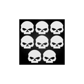 Kit Stickers Réfléchissants pour Casque de Moto Harley Davidson SKULL ★