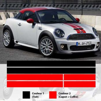Kit Stickers Bandes Mini Coupe Cooper S