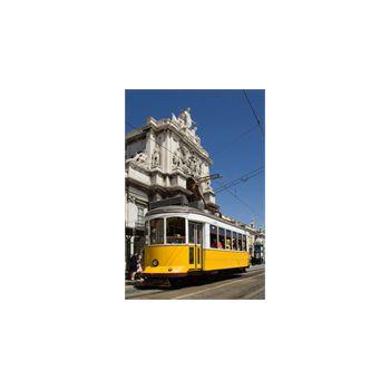 Sticker Déco Tramway Lisbonne Grand Dos de Commerce Portugal