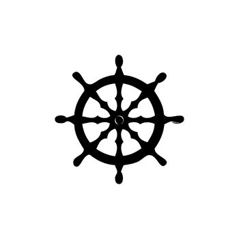 Rudder Wheel Decal