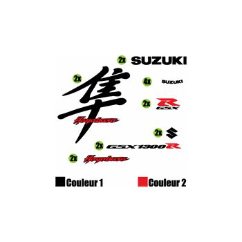Kit stickers Suzuki Hayabusa Écriture Japonaise