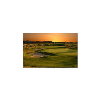 Sticker Déco Terrain de Golf au Coucher du Soleil