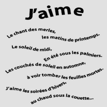 J'aime Poem Decal
