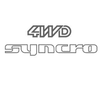 Sticker VW 4wd Syncro