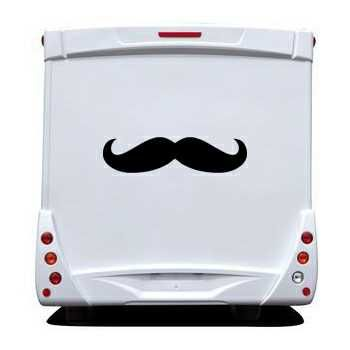 Sticker Camping Car Carstache Moustache