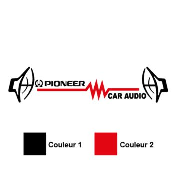 Sticker Audio Pioneer Logo