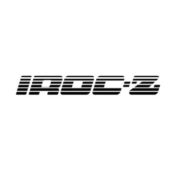 Chevrolet Camaro Iroc Z Logo Decal