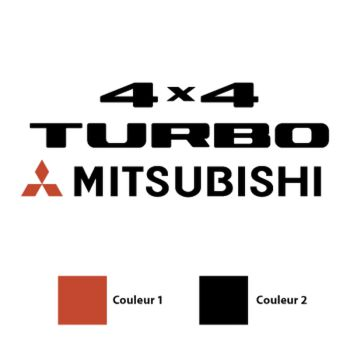 Mitsubishi 4x4 Turbo Logo Decal