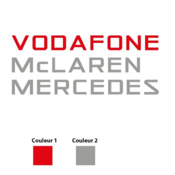 Vodafone McLaren Mercedes F1 Logo Decal