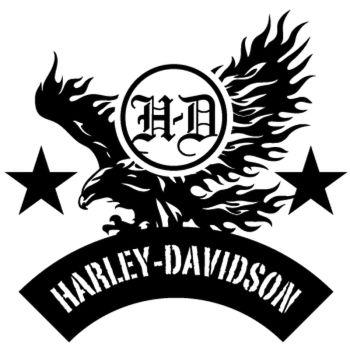Harley Davidson Aigle Decal