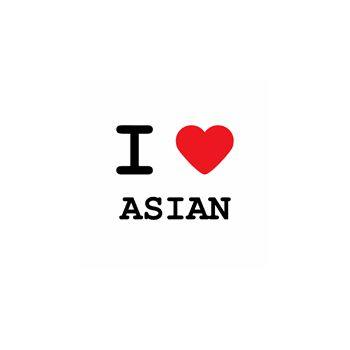 T-Shirt I love asian