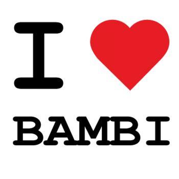 T-Shirt I love BAMBI