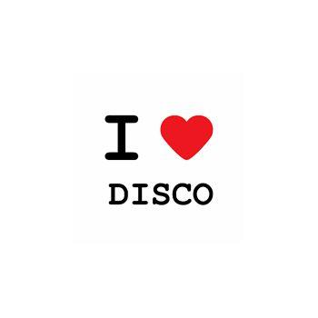 T-Shirt I LOVE DISCO