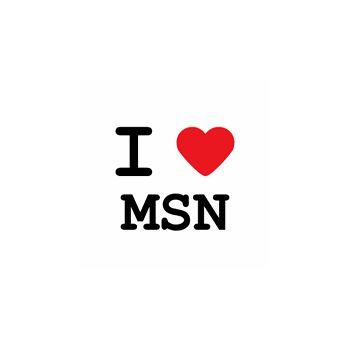 T-Shirt I love msn