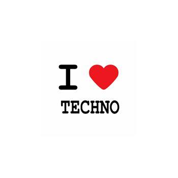 T-Shirt I love techno