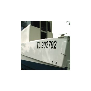 Boat Registration Decals Set