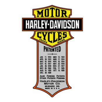 Harley Davidson Patented Decal