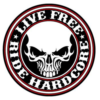 Live Free Ride Hardcore logo Decal