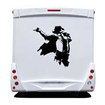 Sticker Camping Car The King Of The Pop