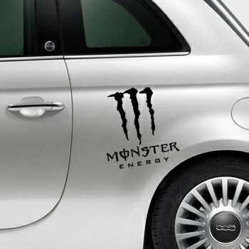 Sticker Fiat 500 Monster Energy