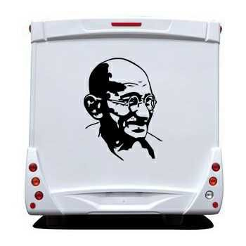 Sticker Camping Car Gandhi