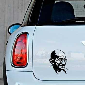 Gandhi Mini Decal