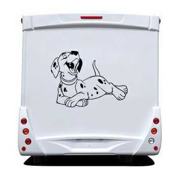Dalmatian Dog Camping Car Decal