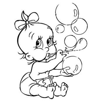 Sticker Bébé Bulles de Savon
