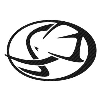 Sticker Carbone Cagiva Logo