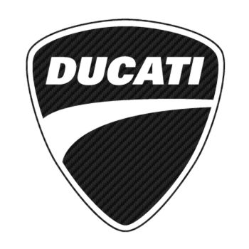 Sticker Carbone Ducati Logo