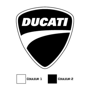 Sticker Ducati Logo 2 Couleurs
