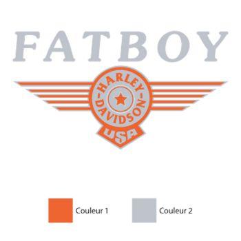 Harley Davidson Fatboy Decal