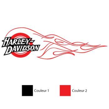 Harley Davidson Flaming Decal