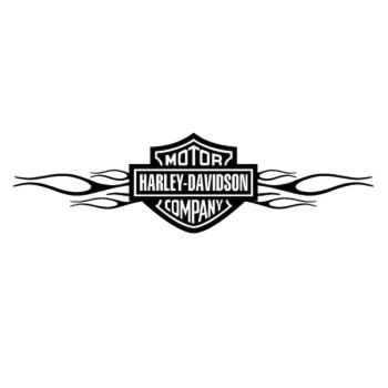 Harley Davidson Flaming Decal 3