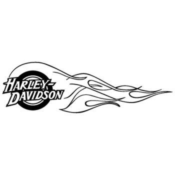 Harley Davidson Flaming Decal 4