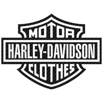 Harley Davidson Motor Clothes Carbon Decal