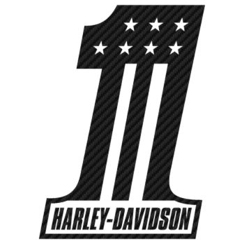 Harley Davidson One Carbon Decal 2